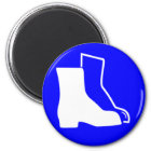 Blue Safety Shoes Magnet