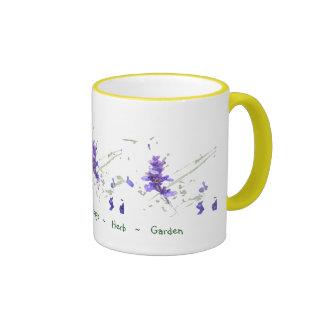 Blue Sage Herb Garden Ringer Mug