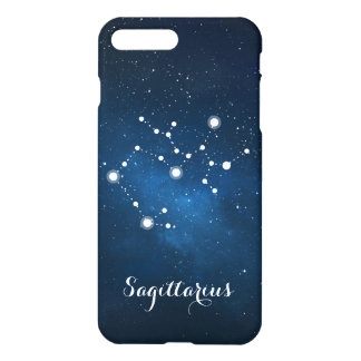 Blue Sagittarius Zodiac Sign Constellation iPhone 8 Plus/7 Plus Case