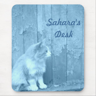 Blue Sahara (Cat) Mouse Pad *PERSONALIZE*