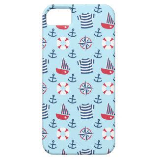 Blue Sail boat Anchor Nautical Theme Pattern iPhone SE/5/5s Case