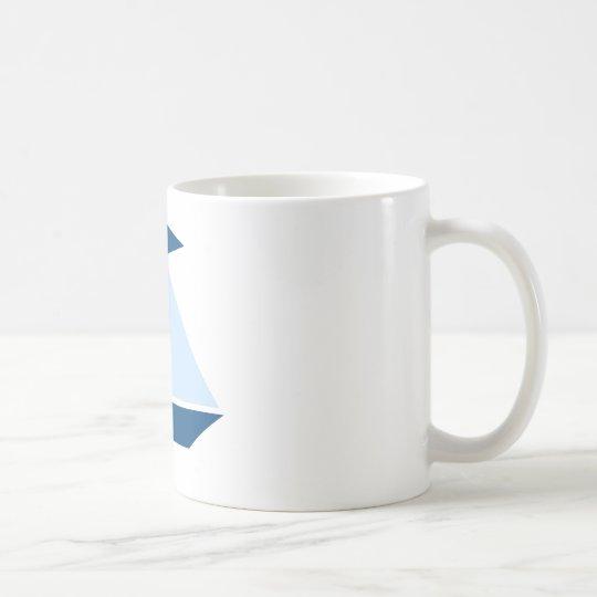 Blue Sail Boat Coffee Mug