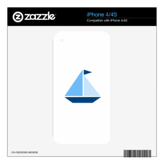 Blue Sail Boat Decals For iPhone 4