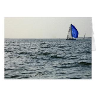 Blue Sail Greeting Card