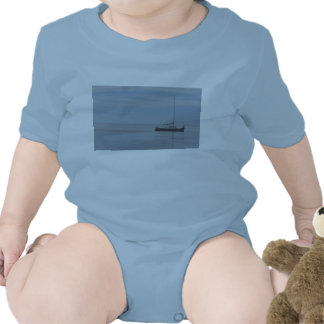 Blue Sailboat Baby Romper