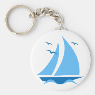 Blue Sailboat Keychain