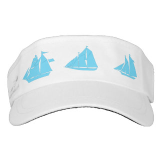 Blue Sailboat Visor Hat