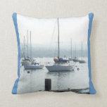 Blue Sailboats Pillow