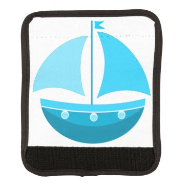 Beach Themed Blue Sailing Boat Handle Wrap