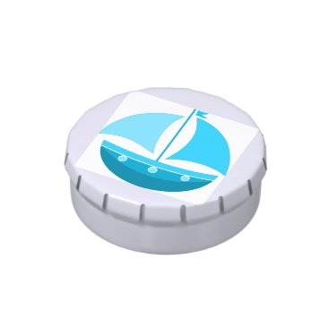 Blue Sailing Boat Jelly Belly Tins