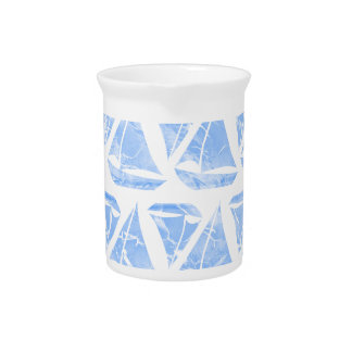 Blue Sailing Boats Water Pattern Drink Pitcher