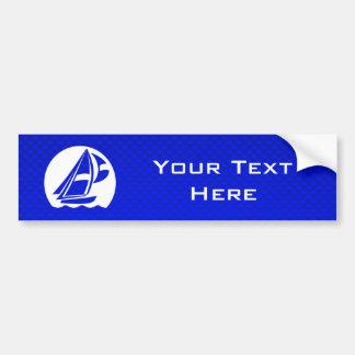 Blue Sailing Car Bumper Sticker