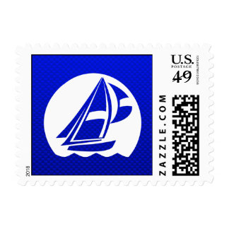 Blue Sailing Stamps