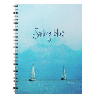 blue sailing spiral notebook