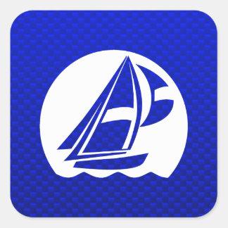 Blue Sailing Square Sticker