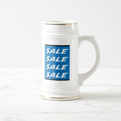 Blue Sale Sign Beer Stein