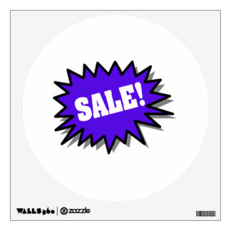 Blue Sale Wall Decal