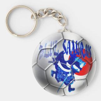 Blue Samurais - Samurai Blue Japan Soccer Gifts Keychain