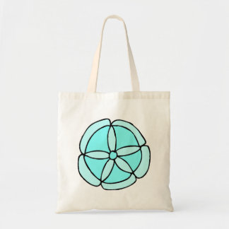 Blue Sand Dollar Tote Bag