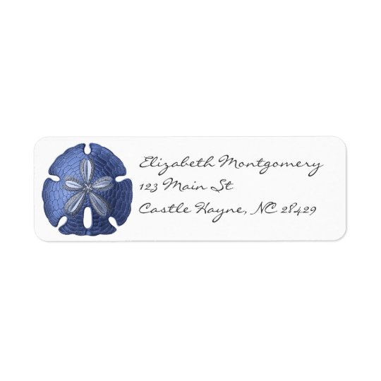 Blue Sand Dollar Labels