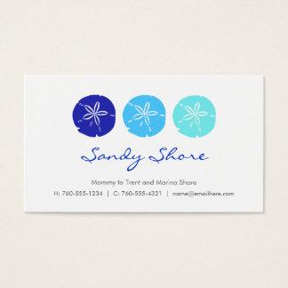 Blue Sand Dollar Mommy Cards /