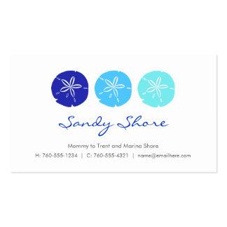 Blue Sand Dollar Mommy Cards / Business Card