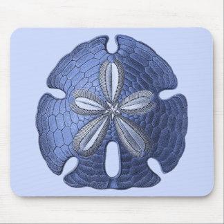 Blue Sand Dollar Mouse Pad