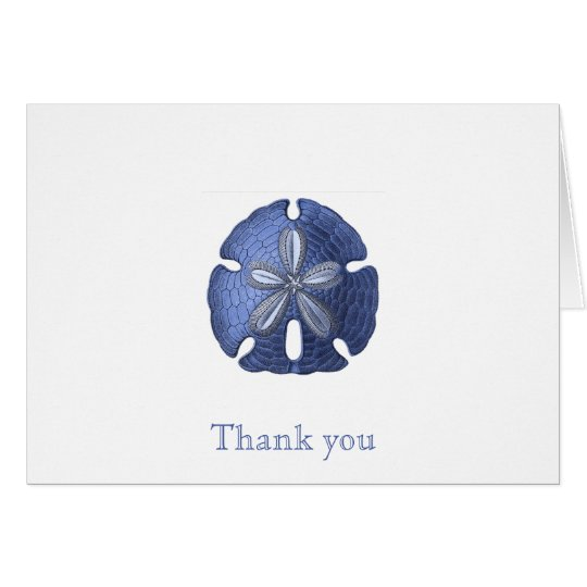 Blue Sand Dollar Thank You Note Cards