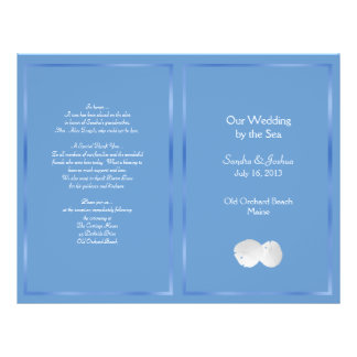 Blue Sand Dollars Beach Wedding Program