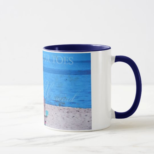 Blue Sand in the toes Mug