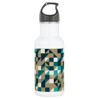 Blue Sand Pattern Stainless Steel Water Bottle