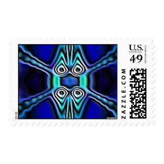 blue sand postage stamp