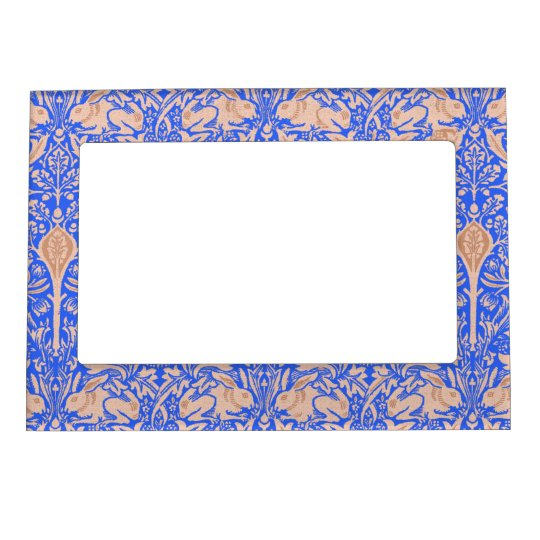 Blue Sand Rabbits William Morris Magnetic Picture Frame