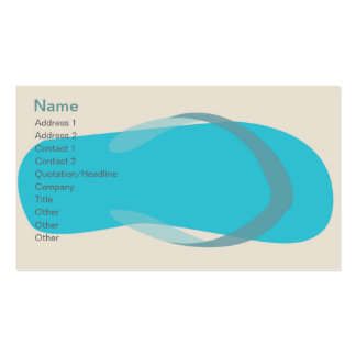 Blue Sandal - Classic Double-Sided Standard Business Cards (Pack Of 100)