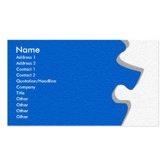 Blue Sandstone Puzzle Profile Card Double-Sided Standard Business Cards (Pack Of 100)