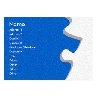 Blue Sandstone Puzzle Profile Card Large Business Cards (Pack Of 100)