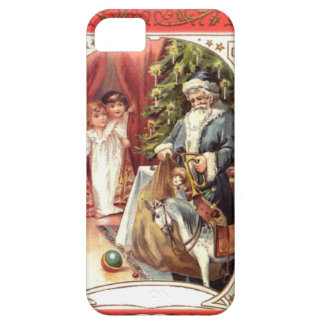 Blue Santa and the Christmas tree iPhone SE/5/5s Case