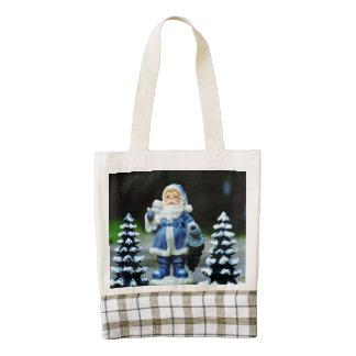 Blue Santa Claus Zazzle HEART Tote Bag