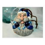Blue Santa I Postcard