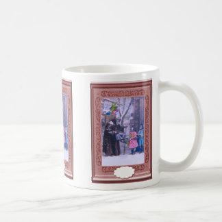 Blue Santa little girl and rocking horse Coffee Mug