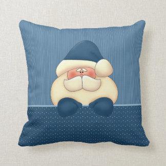 Blue Santa Reversible Christmas Pillow