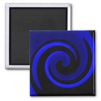 Blue Sapphire 2 Inch Square Magnet