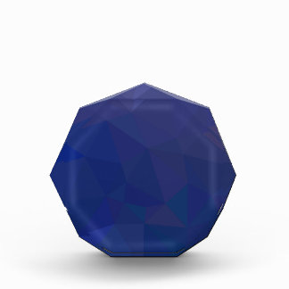Blue Sapphire Abstract Low Polygon Background Award