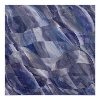 Blue Sapphire Crystals - Light and Shade work Print