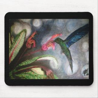 BLUE SAPPHIRE HUMMING BIRD MOUSEPAD