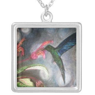 BLUE SAPPHIRE HUMMINGBIRD necklace