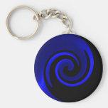 Blue Sapphire Swirl Keychain