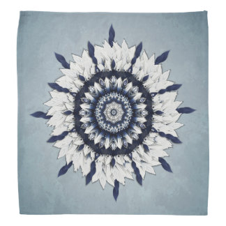 Blue Sash Flower Mandala Bandana