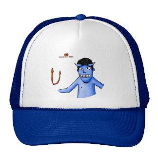 Blue Satan cap Trucker Hat