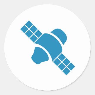 Blue Satellite Sticker